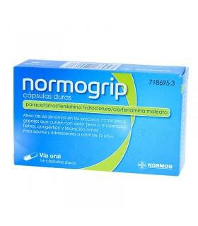 NORMOGRIP 500-4-10 MG 14 CAPSULAS