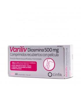 VARILIV DIOSMINA 500 mg 60 COMPRIMIDOS RECUBIERTOS
